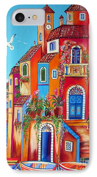 Southern Italy Amalfi Coast Village IPhone Case