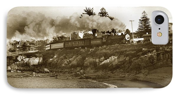 Southern Pacific Del Monte Passenger Train Pacific Grove Circa 1954 IPhone Case by California Views Mr Pat Hathaway Archives