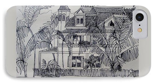 Southernmost House  Key West Florida Phone Case by Diane Pape