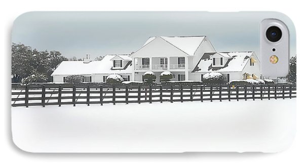 IPhone Case featuring the photograph Snow Covered Southfork Ranch   by Dyle   Warren