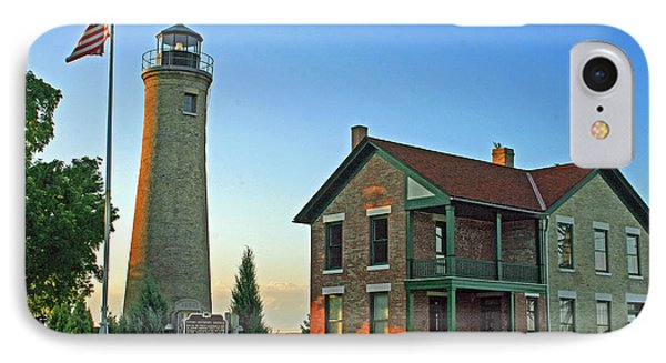 IPhone Case featuring the photograph Southport Lighthouse On Simmons Island by Kay Novy