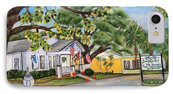 Southport Tea House IPhone Case by Shelia Kempf