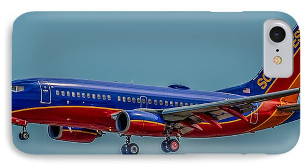 Southwest 737 Landing IPhone Case by Paul Freidlund