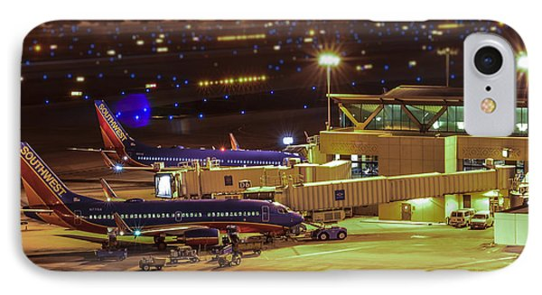 Southwest 737s In For The Night IPhone Case by Alan Marlowe