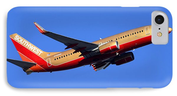 Southwest Boeing 737-7h4 N792sw Phoenix Sky Harbor December 22 2014  Phone Case by Brian Lockett