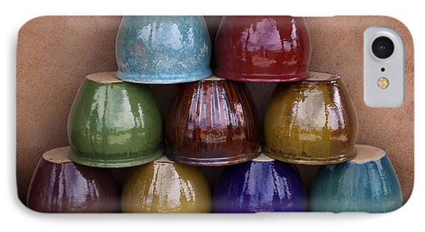 Southwestern Ceramic Pots IPhone Case by Carol Leigh
