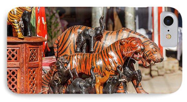 Souvenir Tiger Sculptures, New Delhi IPhone Case