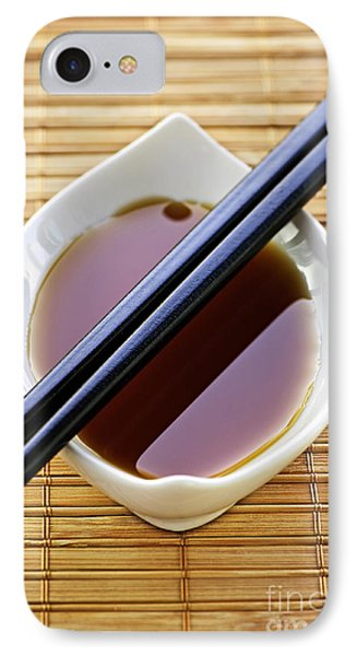 Soy Sauce With Chopsticks Phone Case by Elena Elisseeva