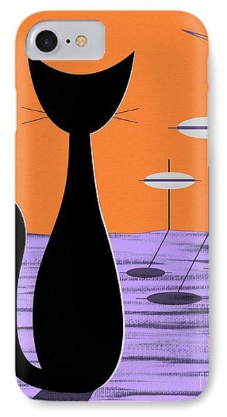 Space Cat Orange Sky IPhone Case