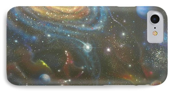 Space Dolphins IPhone Case by Darren Robinson