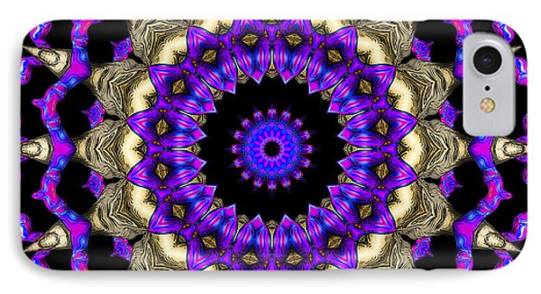 IPhone Case featuring the digital art Space Flower 3d Art by Hanza Turgul