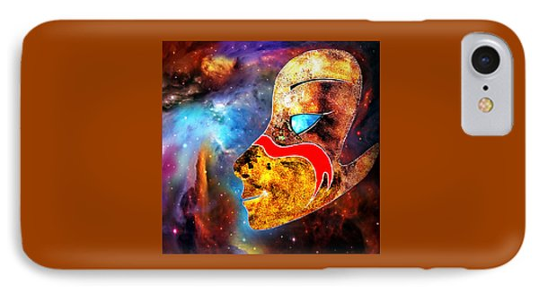 IPhone Case featuring the painting Space  Glory by Hartmut Jager