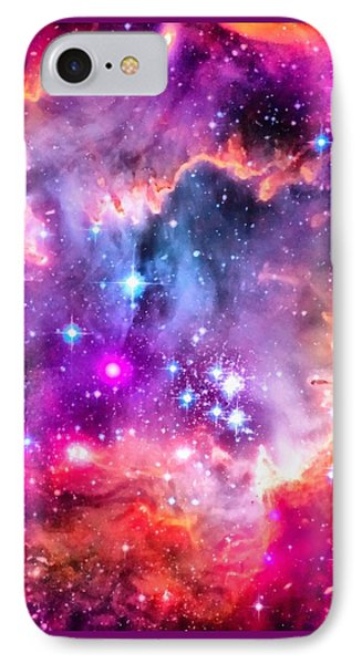 Space Image Small Magellanic Cloud Smc Galaxy IPhone Case by Matthias Hauser