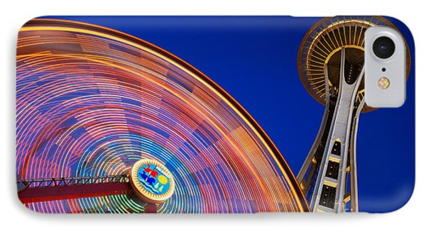 Space Needle And Wheel Phone Case by Inge Johnsson