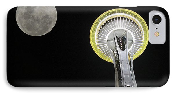 Space Needle IPhone Case by David Gleeson