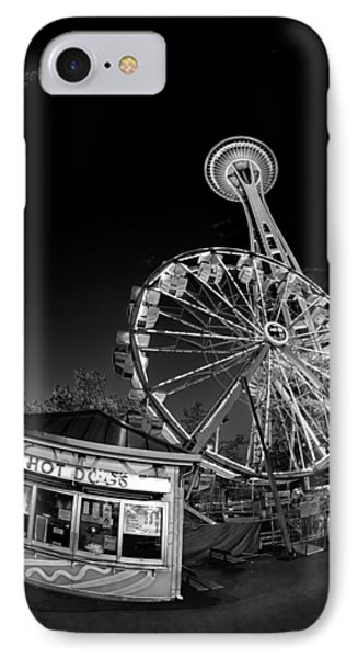 Space Needle Fights The End Of The World IPhone Case by Scott Campbell