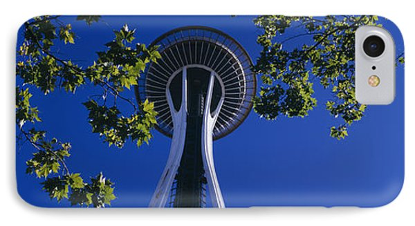 Space Needle Maple Trees Seattle Center IPhone Case by Panoramic Images