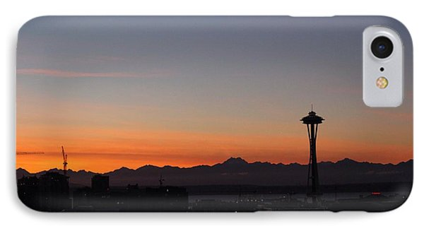 Space Needle Sunset IPhone Case by Suzanne Lorenz