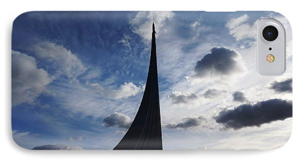 Space Roket Monument IPhone Case by Julia Ivanovna Willhite