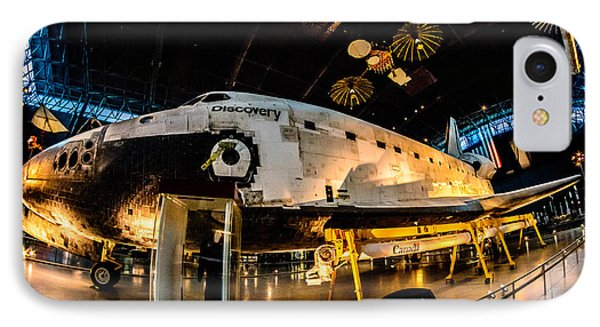 Space Shuttle Discovery IPhone Case by Randy Scherkenbach