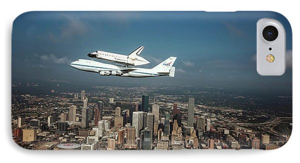 Space Shuttle Endeavour Piggyback Flight IPhone Case by Nasa/sheri Locke
