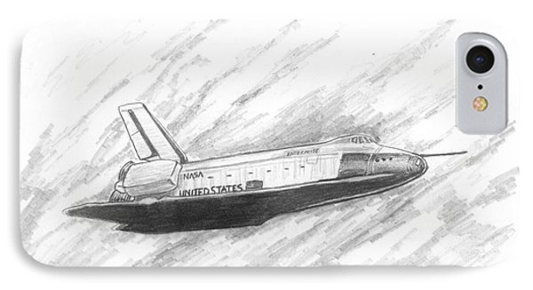 Space Shuttle Enterprise IPhone Case by Michael Penny