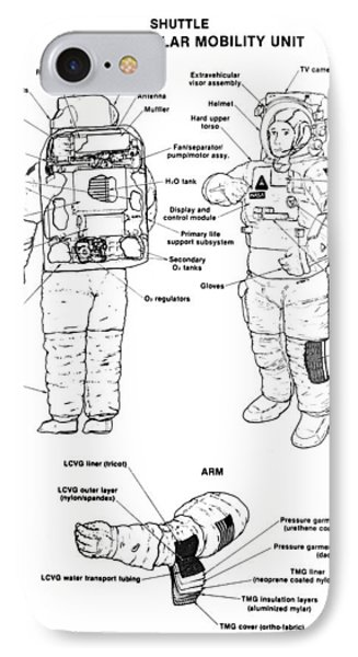 Space: Spacesuit, 1991 IPhone Case by Granger