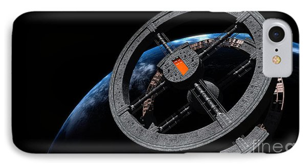 Space Station 5 In Earth Orbit IPhone Case by Rhys Taylor