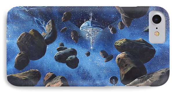 Space Station Outpost Twelve IPhone Case by Murphy Elliott