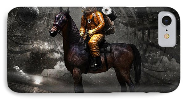 Space Tourist IPhone Case by Vitaliy Gladkiy