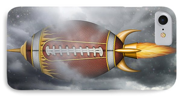 Spaceship Football IPhone Case