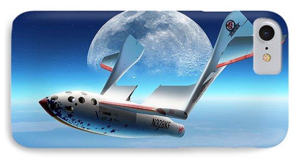 Spaceshipone In Orbit IPhone Case by Detlev Van Ravenswaay