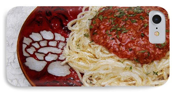 IPhone Case featuring the photograph Spaghetti Red by Andee Design