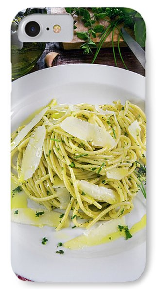 Spaghetti With Herbs - Rosemary, Thyme IPhone Case