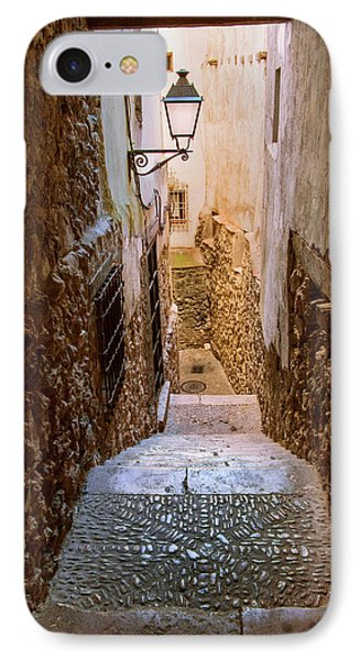 Spain, Cuenca Alley IPhone Case by John Ford