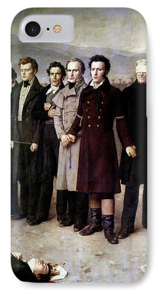 Spain Execution, 1831 IPhone Case by Granger