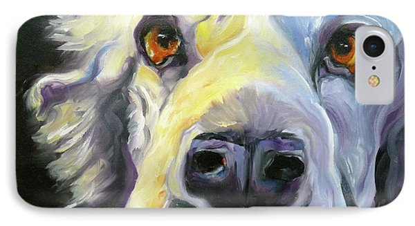 Spaniel In Thought Phone Case by Susan A Becker