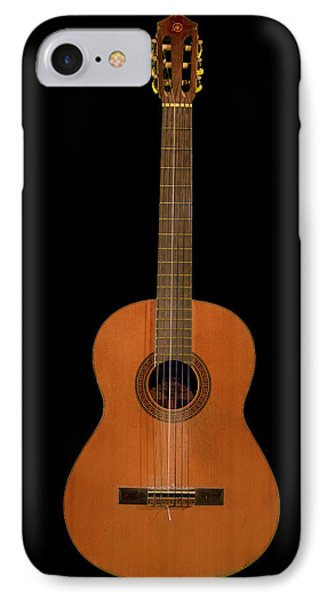 Spanish Guitar On Black IPhone Case by Debra and Dave Vanderlaan