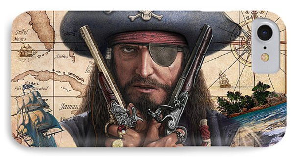 Spanish Main Pirate IPhone Case by Steve Read