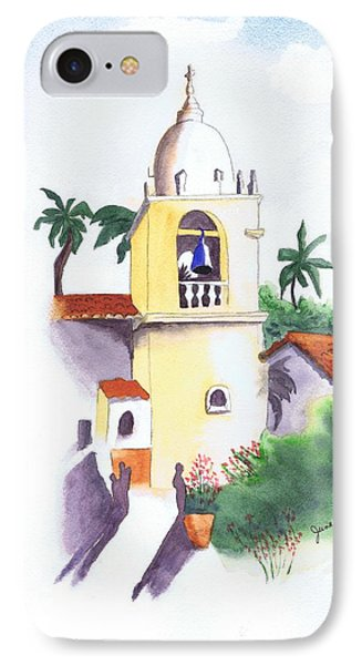 IPhone Case featuring the painting Spanish Mission by June Holwell