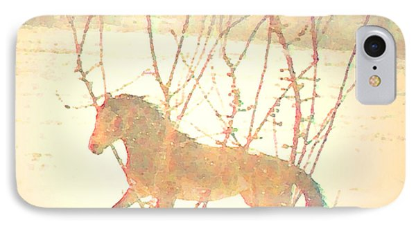 IPhone Case featuring the photograph Spanish Mustang Running Free In April Snow  by Anastasia Savage Ealy