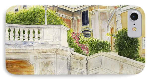 IPhone Case featuring the painting Spanish Steps by Carol Flagg