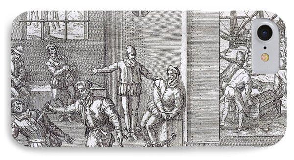 Spanish Traitors In Panama Phone Case by Theodore De Bry