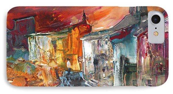 Spanish Village By Night IPhone Case by Miki De Goodaboom