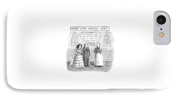 Spark Notes Marriage Vows -- A Minister Says IPhone Case by Roz Chast