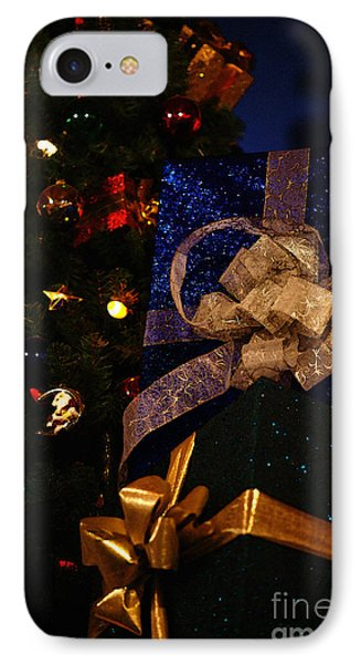 IPhone Case featuring the photograph Sparkle Ribbon And Bows by Linda Shafer
