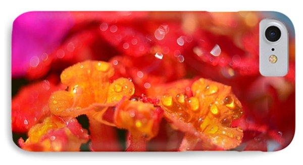 Sparkling Jeweltone Floral II Phone Case by Debbie Portwood