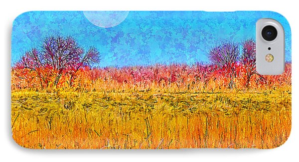 IPhone Case featuring the digital art Moonlight Over Fields Of Gold - Boulder County Colorado by Joel Bruce Wallach