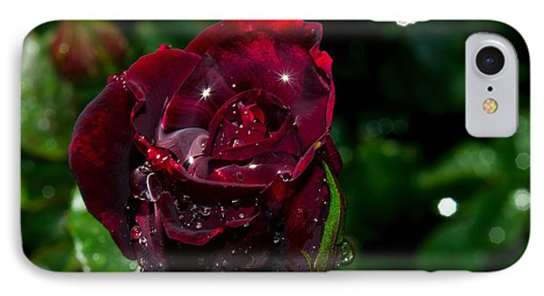Sparkling Red Rose Phone Case by Camille Lopez