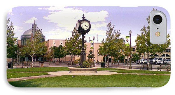 IPhone Case featuring the photograph Sparks Community Clock by Bobbee Rickard